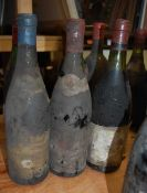 Assorted circa 1960s/70s French Château red wines, many lacking labels or with very poor labels;
