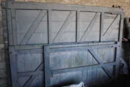 Set of Wooden Barn Doors (two 9ft x 6ft) and (two 9ft x 3.6ft)Condition report: see additional