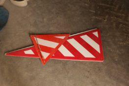 2 x Hazard Signs