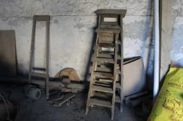 2 x Wooden Step Ladders