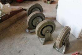 4 x Trolley Wheels