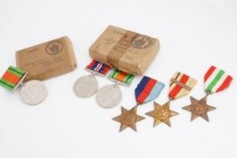 Two Second World War campaign medal groups in original cartons