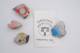 Several fragments of the Berlin Wall