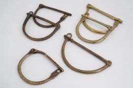 A number of early 20th Century British military kit bag locks