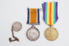 A British War and Victory medal pair to 180510 Gnr J T Taylor, Royal Artillery, together with an