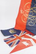 Four various military and other pennants
