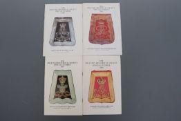 Four Military Historical Society publications on British army sabretaches by W Y Carman