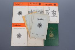 11 early 1970s issues of The British Model Soldier Society Bulletin, together with Krause's Swiss
