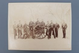 A Victorian full plate photograph of a British army horse artillery unit, 29 cm x 21 cm