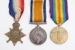 A 1914-15 Star, British War and Victory medals to 168465 S STH CPL J R Mark, RFA