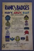 Rank and Badges in the Navy, Army, RAF and Auxiliaries, 1942
