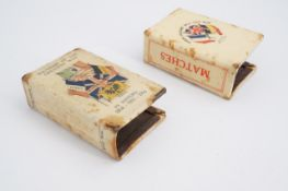 Two Great War commemorative / patriotic Celluloid matchbox covers