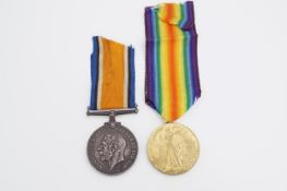 A British War and Victory medal pair to 353602 Pte W Breakwell, HLI