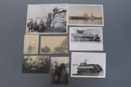 A quantity of postcards and photographs of military subjects including Imperial German soldiers