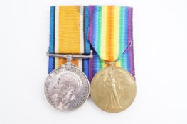 A British War and Victory medal pair to 202658 Pte F N Mathews, Border Regiment