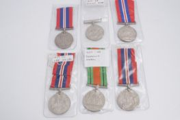 A number of 1939-45 War and Defense medals