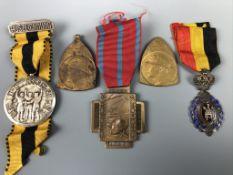 Five various Belgian medals