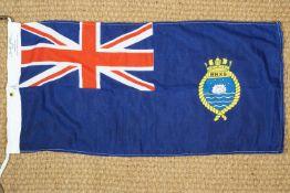 A 1989 military issue Devonport Royal Dockyard printed cotton Union Jack flag