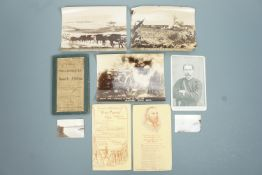 """Bacon's """"New Large-scale Map of South Africa"""" together with Boer War period photographs etc"""