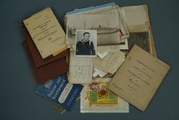 A quantity of military photographs and ephemera