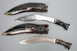 """A British military Mk 5 Gurkha kukri, the blade stamped """"ORDEP NEPAL 8179"""", together with one other,"""