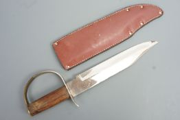 An American Civil War era style Bowie knife, 37 cm