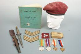 A Second World War Glider Pilot Regiment group, that of Sgt A D Moncur, comprising campaign medals