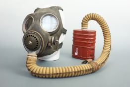 A Second World War British Military long hose respirator