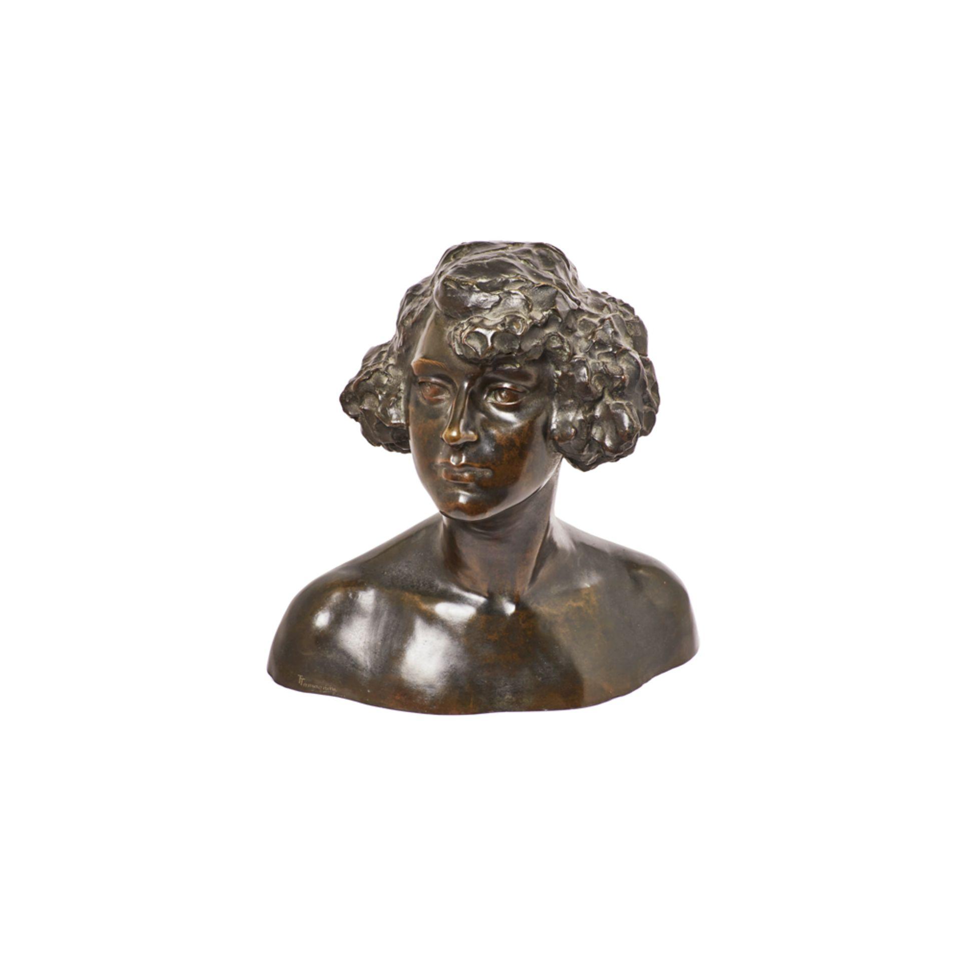 Los 50 - Torquato Tamagnin. Busto masculino. Escultura en bronce.