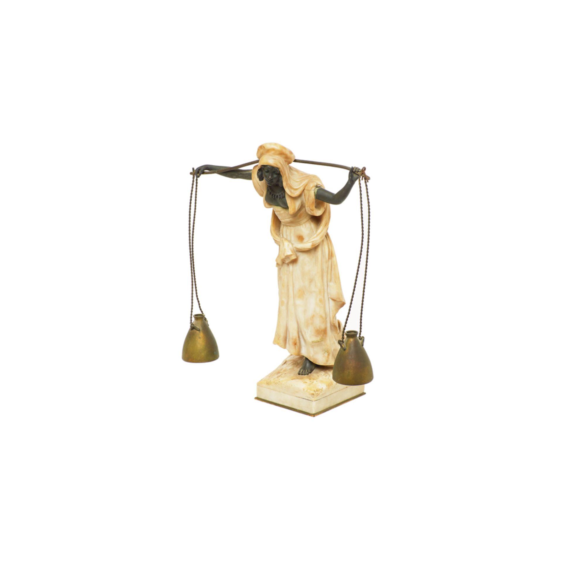 Los 46 - Dominique Alonzo. Aguadora. Escultura Art Deco en bronce.