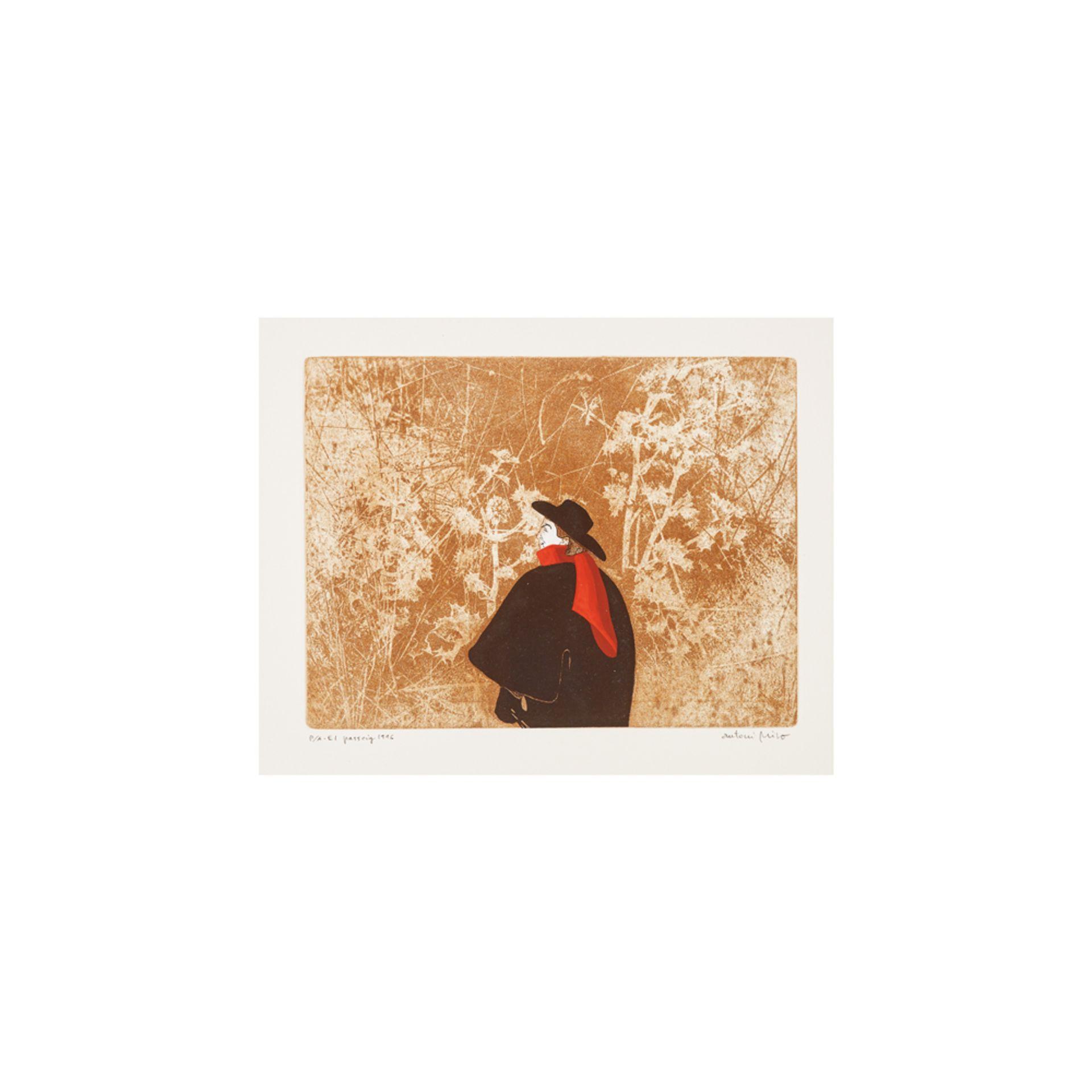Los 28 - Antoni Miró. El passeig. Grabado.