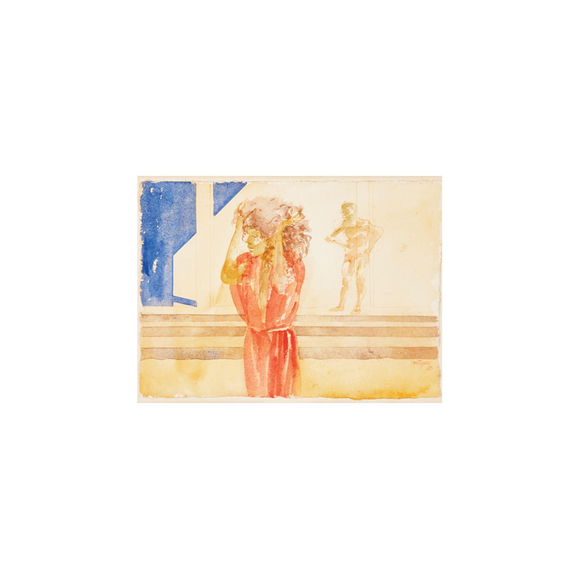 Los 53 - Francesc Artigau. Figuras. Acuarela sobre papel.