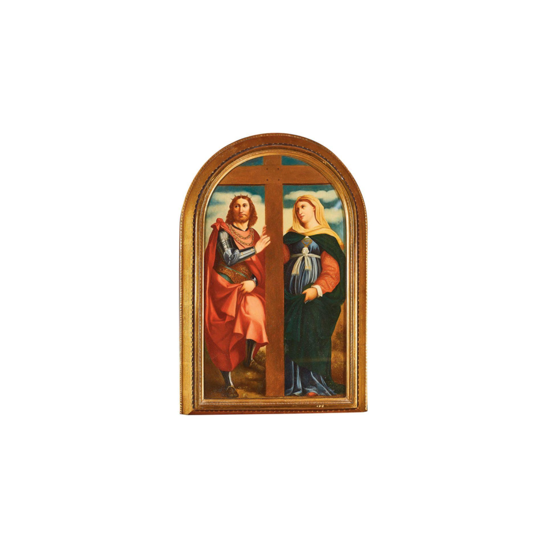 Los 12 - Escuela italiana, s.XIX. Santa Elena y Constantino. Óleo sobre tabla.