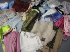 Quantity of various silk scarves including B.O.A.C., Mulberry and Jacqmar