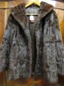 Ladies mid 20th Century half length dark brown mink jacket labelled Karter, together with a