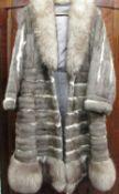Ladies Canadian fox three quarter length fur coat