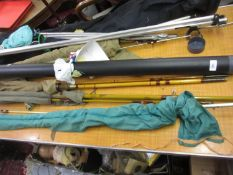 Antique bamboo and cane three piece fishing rod by Tunbridge Wells Rods Ltd, The Pleasant,