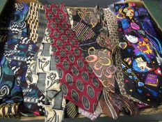 Large collection of approximately one hundred and fifty gentlemens silk ties