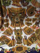 Hermes ' Sous L'Egide de Mars ' ladies silk shawl, 128cms square (unboxed) Some marks as shown in