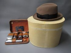 Gentleman's Lock and Co. trilby hat, size 7 3/8ths, in original box, together with a gentleman's