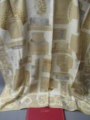 Cartier, ladies beige silk scarf, 86cms x 86cms, in original box with authenticity card Some stains