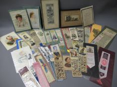 Collection of thirty plus Stevengraph and other bookmarks
