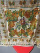 Must de Cartier ladies beige silk scarf, 86cms x 86cms, in original box
