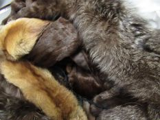 Collection of various fur stoles