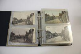 LOCAL POSTCARD ALBUM an album of approx 210 postcards including Merriott (Broadway, Lower St, High