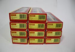 HORNBY BOXED COACHES 11 boxed coaches including 4 BR (Ex Lms) coaches carmine/cream, and 7 BR (Ex