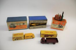 DINKY TOYS 4 boxed models including 571 Coles Mobile Crane, 14c Coventry Climax Fork Lift, 421