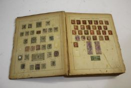 STAMP COLLECTION including a large album with GB and world used stamps from the 19th and 20thc,