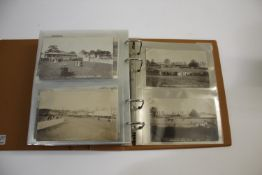 LOCAL POSTCARD ALBUM - CREWKERNE an album with a large qty of approx 180 Crewkerne postcards,