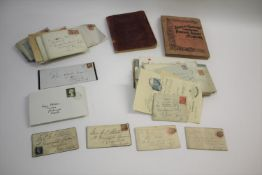 POSTAL HISTORY various covers including 1850's 1d reds, 2d blue, some foreign etc. Also with 2 small
